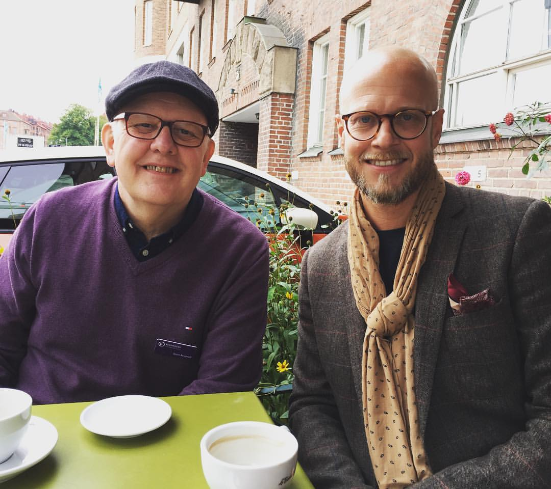 Sture Bergwall och Johan Svensson vid Bokmässan 2016.